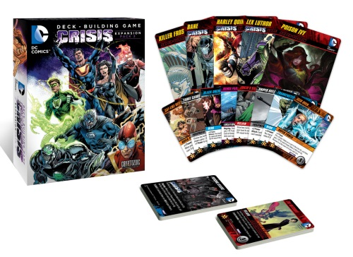 DC Comics Deck-Building Game: Crisis Expansion (Pack 3) components